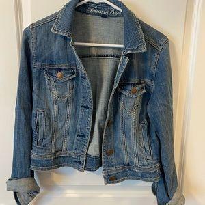 women's dark wash denim jacket